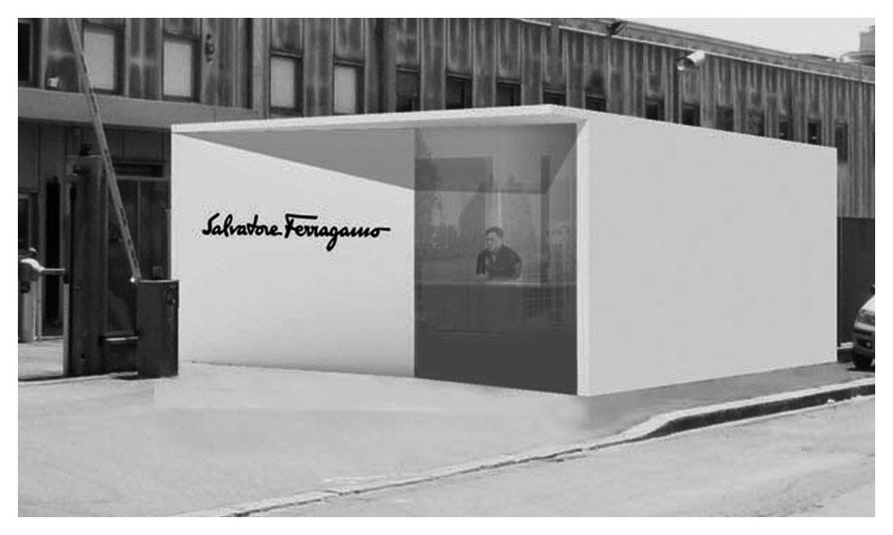 Salvatore Ferragamo Headquarters entrance guard