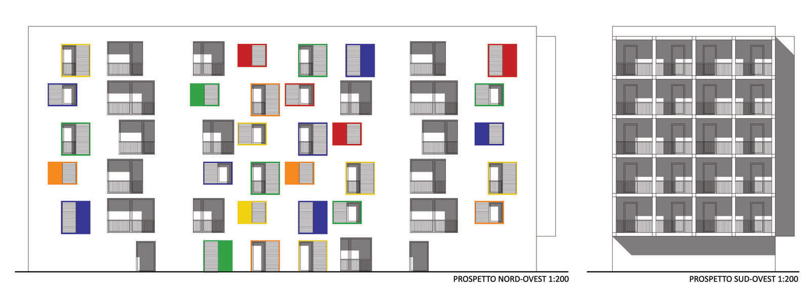 galileo ferraris sud social housing complex map architetti